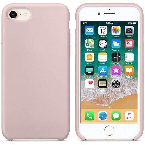New Phoone - Funda de Silicona iPhone | Funda de iPhone 7 - Funda iPhone 8 o Funda iPhone SE 2020 - Funda Ligera con Tacto Suave, Resistente y Antigolpes de Color Rosa Arena