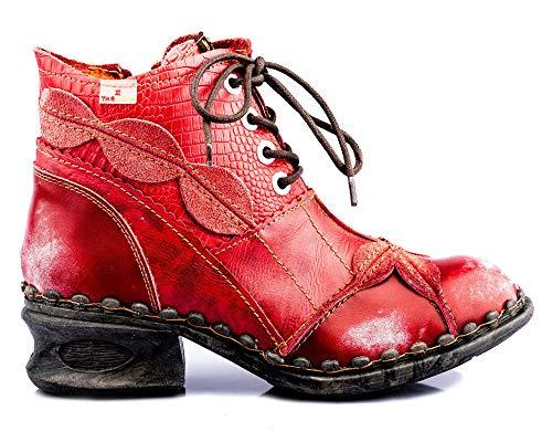 TMA 5188A Damen Stiefeletten Leder rot - EUR 37