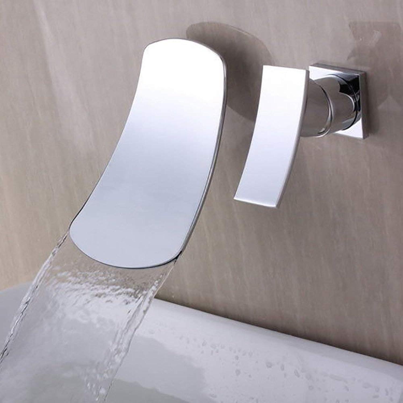 MWPO Badzubehr, einfach zu bedienen und benutzerfreundlich Unterputz Wasserfall Dreiteiliges Waschbecken Waschtischarmatur