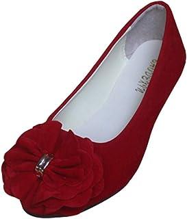 0b648beb0b79e4 Ballerines Femme Mocassins Ballet Slip on Chaussures Souple avec Fleur