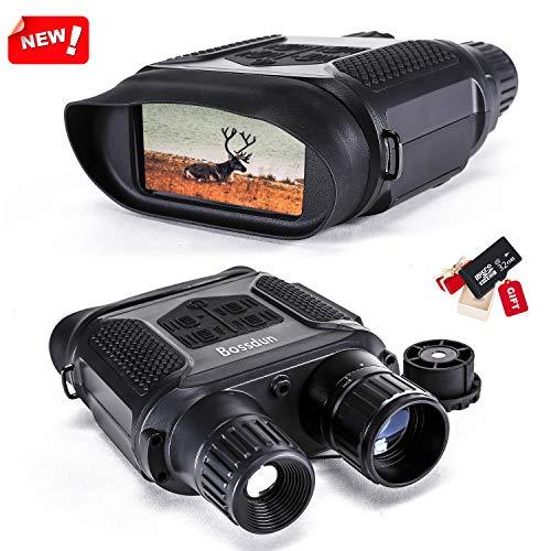 Binocular Digital de visión Nocturna para la Caza, 7x31 con cámara infrarroja TFT LCD HD de 2 Pulgadas y videocámara Rango de visualización de 1300 pies / 400M, con Tarjeta de Memoria 32G