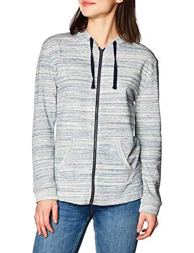 Hanes Women's Jersey Full Zip Hoodie, Grey Heather, Small