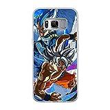 CHATERE Coque souple en silicone TPU pour Samsung Galaxy S8 Plus-Vegeta-Goku Bleu 7
