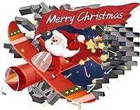 メリークリスマスの壁のステッカー、ホームストアのディスプレイの装飾のためのクリスマス冬の休日のサンタクロースの窓の装飾