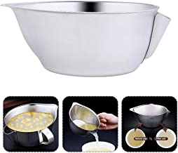 Oil Fat Separator Bowl, Hamkaw Stainless Steel Oil Filter Soup Bowl with Handle - Multi-use Grease Strainer Cup Kitchen Cooking Tool 550ml