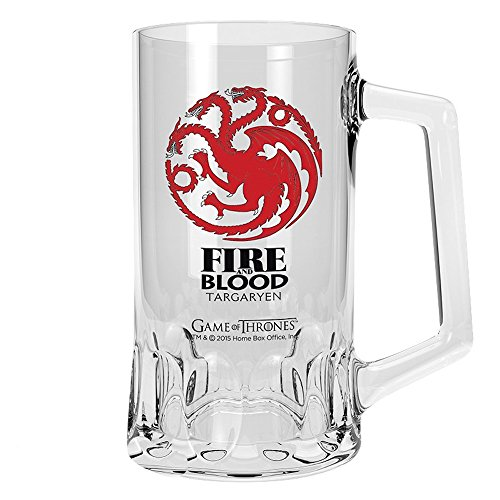 Game of Thrones Huis Targaryen bierglas, inhoud ca. 500 ml | HBO