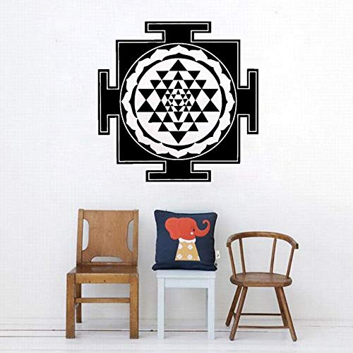 Wandaufkleber Stil von Sri Yantra Creative Abstract Symmetrische geometrische Modellierung Design Wohnzimmer Schlafzimmer Dekoration Kunst Poster Wandbild