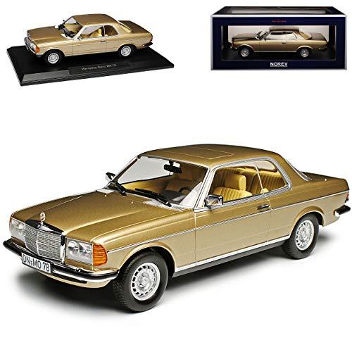 Mercedes-Benz E-Klasse Coupe 280 CE C123 Champagner Gold Metallic 1975-1986 1/18 Norev Modell Auto mit individiuellem Wunschkennzeichen