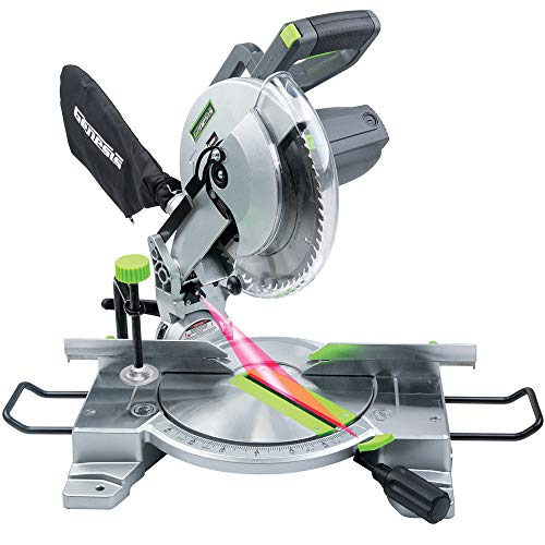 Genesis GMS1015LC 15-Amp 10-Inch Compound Miter Saw with Laser Guide and 9 Positive Miter Stops