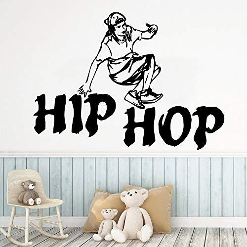 Arte hip hop danza pegatinas papel pintado impermeable decoración del hogar sala de estar habitación de los niños mural extraíble A4 28x38cm