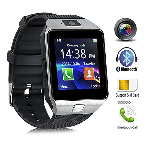 KeepGoo Bluetooth reloj inteligente   Reloj de pulsera watch Fit para smartphones iOS Apple iPhone 4/4S/5/5 C/5S Android Samsung S2/S3/S4/Note 2/Note 3 HTC Sony Blackberry (La Plata)