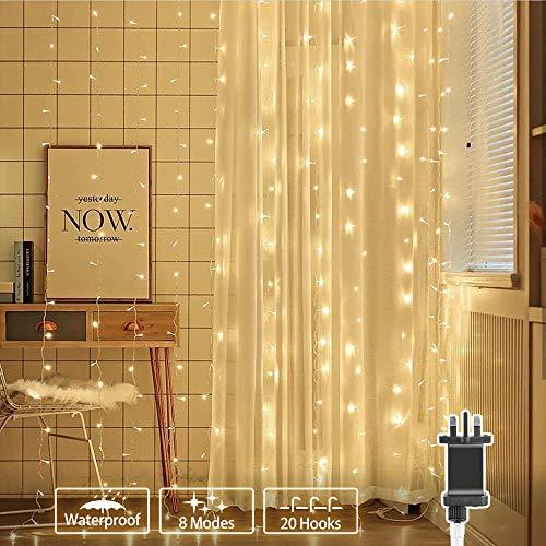 306 LED Curtain Lights Mains Pow...