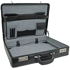 SECURE SLEEK DESIGN – The Alpine Swiss attaché leather briefcase is sleek and polished to help you make a great impression wherever you take it. Dual combination locks can be individually set and will keep your personal belongings secure. SPACIOUS & ...