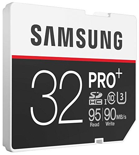 Samsung Speicherkarte SDHC 32GB PRO Plus UHS-I Grade U3 Class 10 (bis zu 95MB/s lesen, bis zu 90MB/s schreiben)