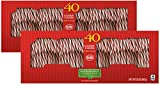 Brach s Bobs Red and White Candy Canes Peppermint, 40 Count Canes, Pack of 2