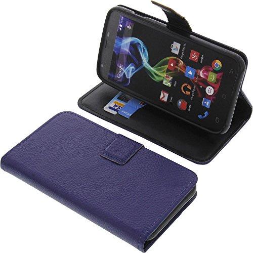 foto-kontor Tasche für Archos 50c Platinum Book Style blau Schutz Hülle Buch