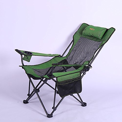 PC CHAIR Portátil Camping Silla Plegable de Camping,Mochilero Reclinables Silla de Descanso con reposapiés-B