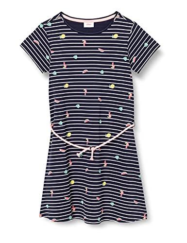 s.Oliver Junior Mädchen 403.10.105.20.200.2062671 Kinderkleid, Dark Blue AOP, 122