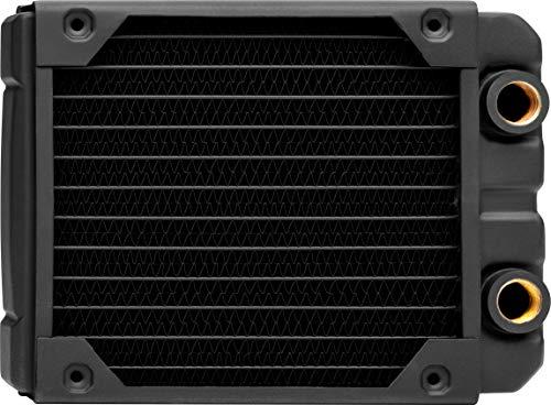 Corsair Hydro X Series, XR5 Radiador de Refrigeración Líquida (Una Montaje de Ventilador de 120mm, Fácil Instalación, Diseño Cobre Primera Calidad, Guías Tornillos Ventilador Integradas, Grueso) Negro