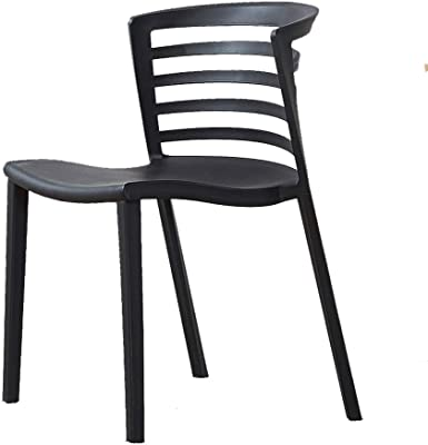 Amazon.com: LIFUREN Bar Chair Simple Dining Chair Plastic ...
