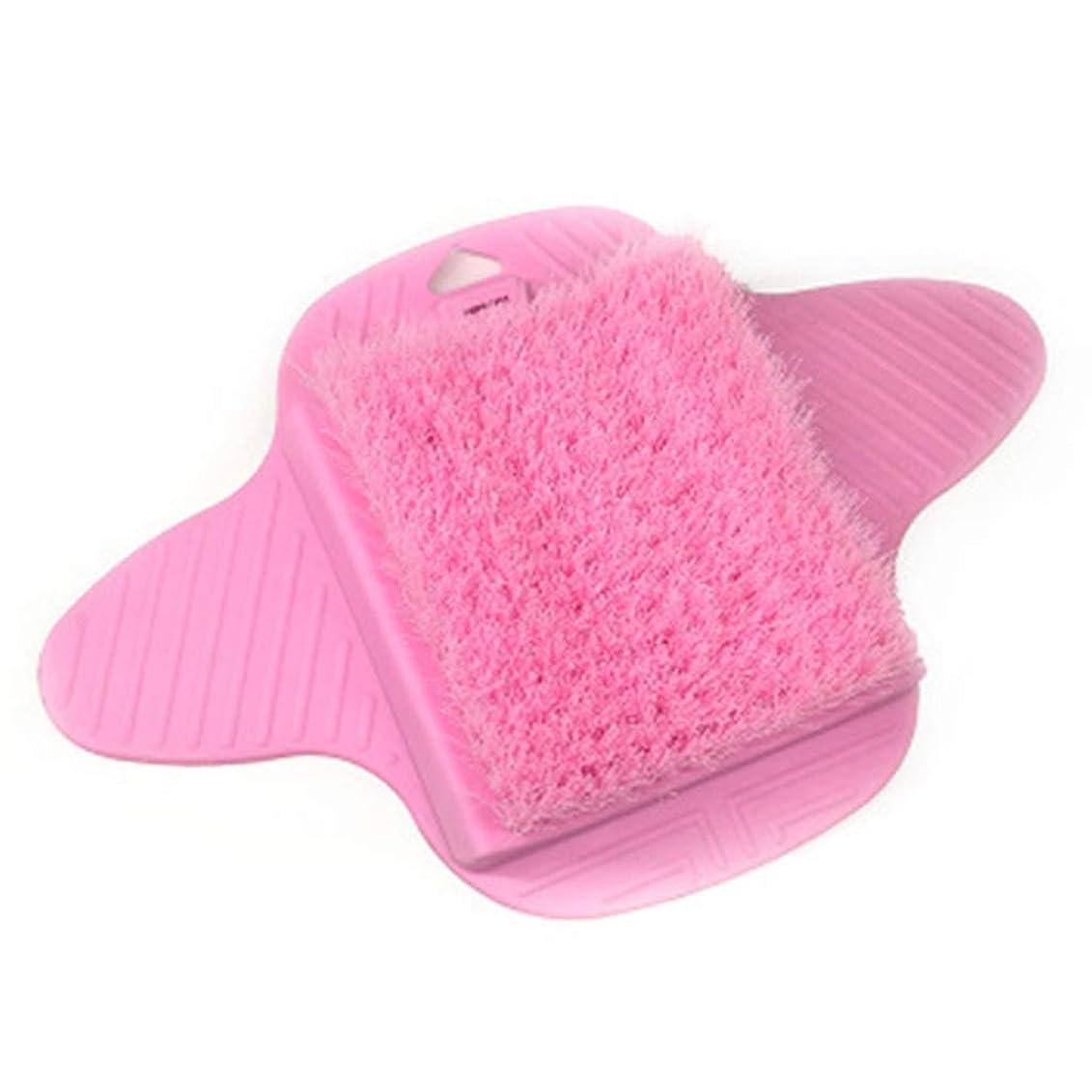 相手たるみコピーノンスリップフットマッサージャースクラバースクラブブラシ、角質除去、お手入れが簡単、乾いた肌をきれいにします,Pink