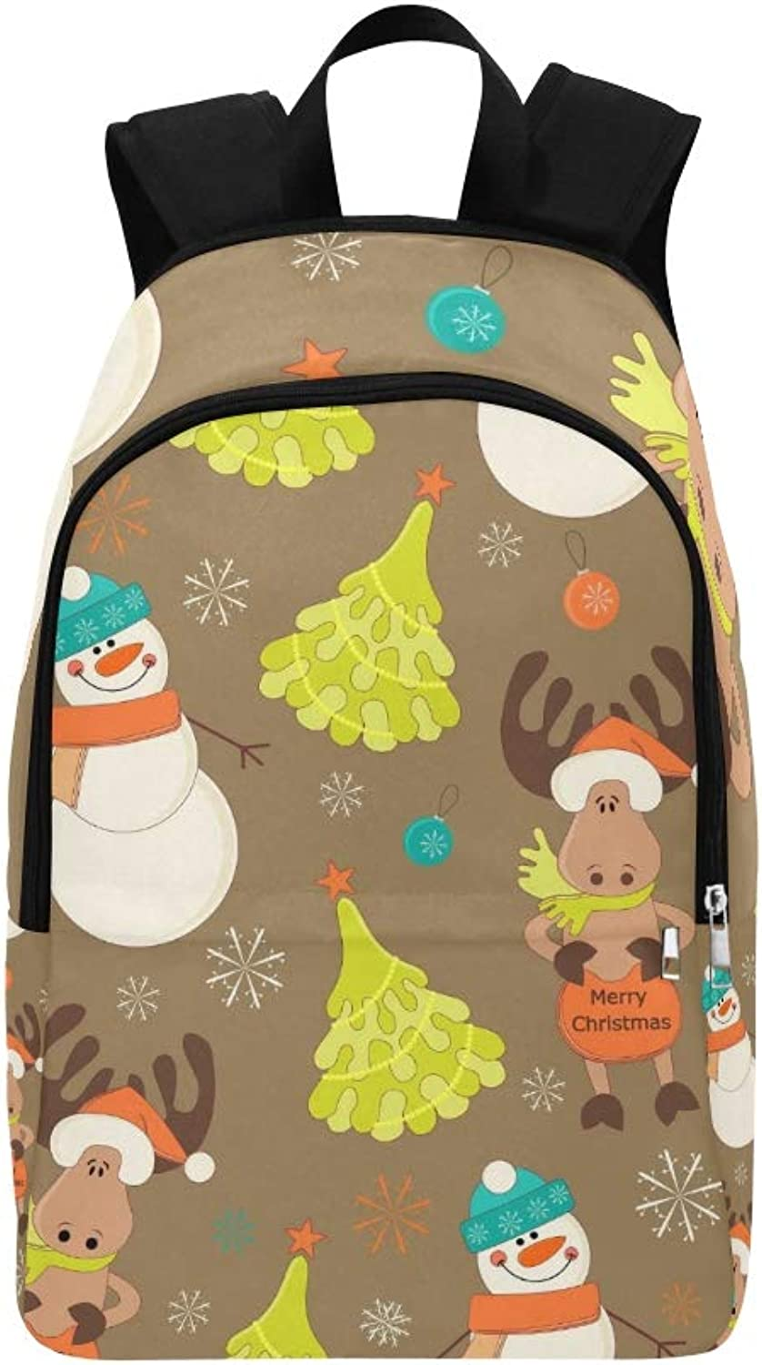 Baby Christmas Casual Daypack Travel Bag College School Backpack for Mens and Women