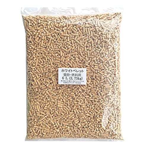 岩国再生エネルギー 猫砂 木質 ペレット 小分け 6L (3.75kg) 崩れるタイプの猫砂