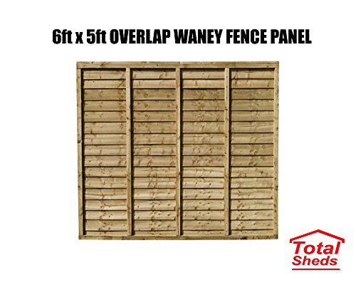 Total Sheds 6x5 (1.83m x 1.5m) 6ft x 5ft Waney Larch Overlap Fence Panels In Stock Ready To Go
