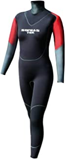 Sopras Sub Islanda 7mm Semi-Dry Women's Wetsuit Horizontal Back Zipper for Scuba Diving Cold Water