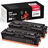 LEMERO 2 tóneres compatibles con HP 203A CF540A para HP Color Laserjet Pro M254 M254dw M254nw MFP M281 M281CDW M281FDN M281FDW M280 M280NW, color negro