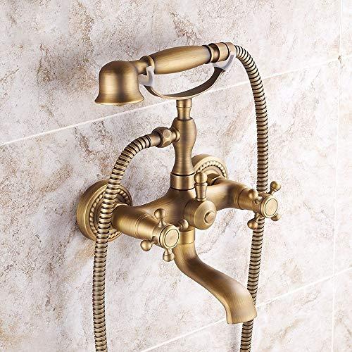AXWT Todo el Bronce Antiguo Ducha Faucet Estilo Europeo Retr