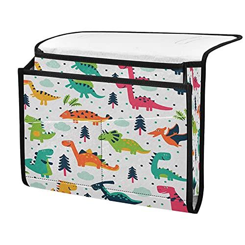 Organizador de almacenamiento para mesita de noche, dinosaurio de animal, junto a la caja, organizador de almacenamiento para mandos a distancia gafas de teléfono