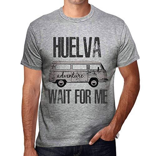 One in the City Hombre Camiseta Vintage T-Shirt Gráfico HUELVA Wait For Me Gris Moteado