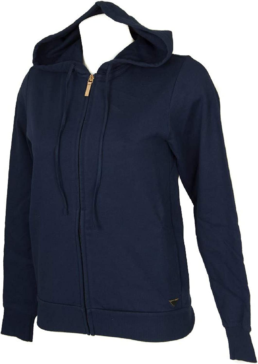 Emporio Armani Women's Knitted Sweatshirt Jacket with Zip and Hood Long Sleeve Leisure time Loungewear Article 163836 8A251