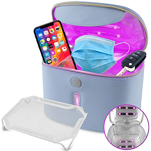 Medd Max UV Light Sanitizer Bag, Ultraviolet UV Sterilizer Box with 12 Powerful UV-C Germicidal LEDs - Portable UV Sanitizer Box, Disinfects in 3 Minutes, Perfect for Phone, Keys, Makeup Brush, Toys