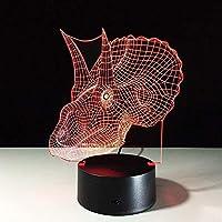 3D ナイトライト 3D LEDナイトライトバレーボールUSBタッチ7色ライト家の装飾ランプ素晴らしい視覚化錯覚3Dテーブルランプ-A056_接する
