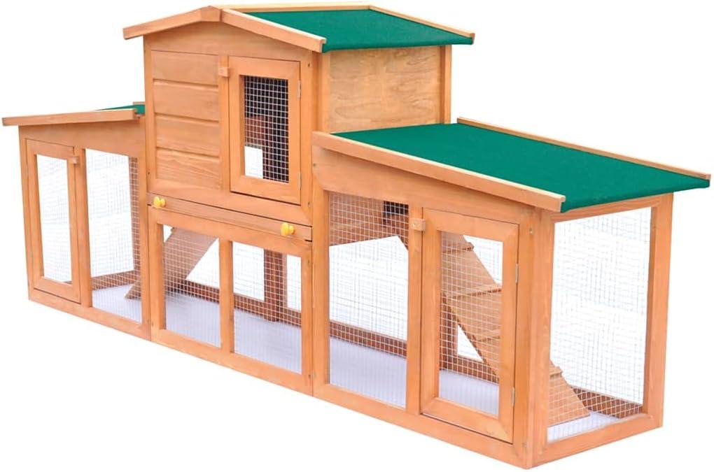 Rabbit Hutch Indoor Outdoor Wood Cage H Bunny Popular standard Chicken Coop sold out