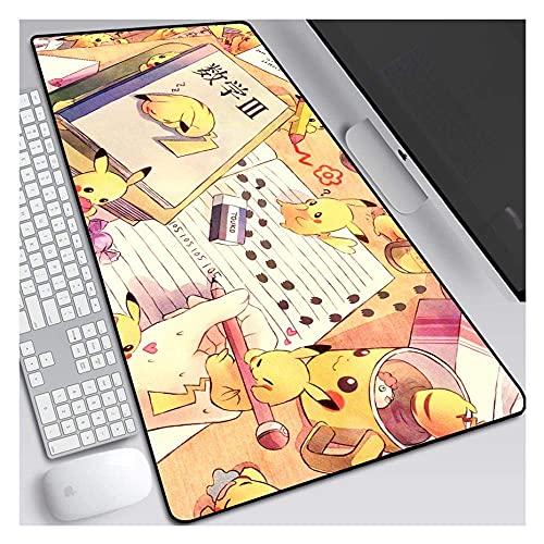 Tapis de souris Pocket Monster Pokémon 900 x 400 mm Tapis de souris de jeu avec base de 3 mm d'épaisseur, pour ordinateurs portables, PC, A-S