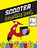 Scooter Coloring Book: Color and Do Fun! Kids will learn about Different Scooter Structure and Types with this Awesome Scooter Coloring Book. Perfect For Toddlers, Kids and Preschooler.