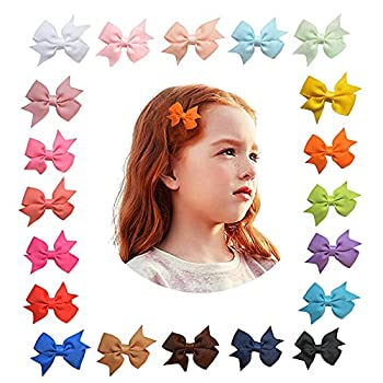 nanchong Baby Girl Hair Clips Accessories Bows for Girls Infant Fine Barrettes Toddler Velcro Childrensbow Ties Newborn Flower Clip Multicoloured Small