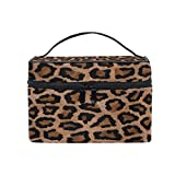 Cosmetic Bag Makeup toiletry Bag Leopard Print Travel Case Organizer for Women