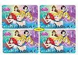 Theonoi Kinder Unterlage Malunterlage Knetunterlage Bastelunterlage Tischunterlagen Tischset Tisch Matten Platzdeckchen Platzset Placemat aus Kunststoff Motive Disney Princess (Princess 4)