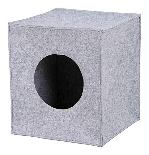 Trixie 36313 Kuschelhöhle Anton für Regal, 33 × 33 × 37 cm, grau