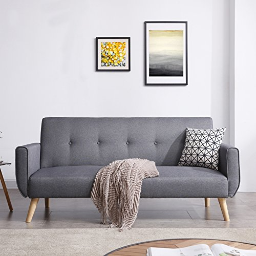 Mon Usine Discount Le Linnea: sofá escandinava Convertible 3plazas gris
