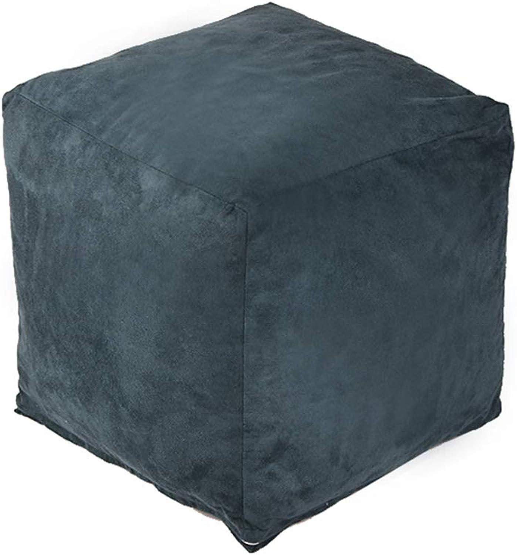 CAIJUN-Sitzsack Multifunktionales, abnehmbares und waschbares Flanellbezug-Kissen umweltfreundlich, 7 Farben (Farbe   Blau, gre   35x35x32cm)