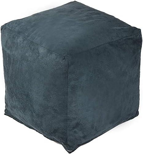 CAIJUN-Sitzsack Multifunktionales, abnehmbares und waschbares Flanellbezug-Kissen umweltfreundlich, 7 Farben (Farbe   Blau, Größe   35x35x32cm)