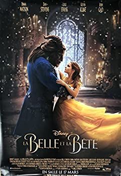 BEAUTY AND THE BEAST  2017  Original Authentic Movie Poster 27x40 - Dbl-Sided - FRENCH VERSION - FINAL - Emma Watson - Dan Stevens - Luke Evans - Kevin Kline