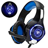 Cuffie Gaming con Microfono Cuffie Bass Stereo per PS4 PS5 Cuffie Xbox One Cancellazione del Rumore Controllo Volume per PC Mac Tablet, Nero …