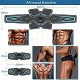 fayleer Electroestimulador Muscular Abdominales, EMS Estimulador ABS Estimulador Muscular USB Recargable para Bdomen/Brazo/Piernas/Glúteos, Almohadillas de Gel