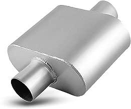 2.5 Inch Single Chamber Muffler, AUTOSAVER88 2-1/2 Universal Race Muffler Stainless Steel Single Inlet Single Outlet High Flow Exhaust Muffler